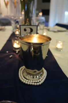 Our heart skips a beat when we combine pearls with silver and navy blue.  http://www.tailracecentre.com.au/events/bridal-workshop/