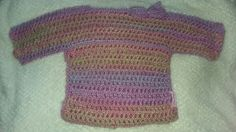 Child's crochet jumper with bow age 2 - 4 £15