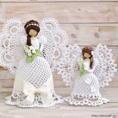 How to Do Crochet Lace Angel Crochet Christmas Decorations, Crochet Ornaments, Christmas Crochet Patterns, Crochet Snowflakes, Christmas Crafts, Crochet Angel Pattern, Vintage Crochet Patterns, Crochet Angels, How To Do Crochet