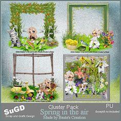 Dagny`s Scrap und Grafik Design: PU Cluster Spring in the air