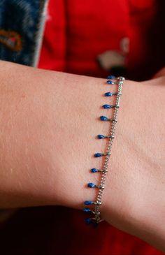Blue Glittery Chain Drops Minimalist Bracelet • Stainless steel blue epoxy Resin • Bar Bracelet • Girl Birthday Gift Stainless Steel Chain, Stainless Steel Bracelet, Birthday Gifts For Girls, Girl Birthday, Jewelry Shop, Handmade Jewelry, Affordable Jewelry, Helpful Tips, Lead Free