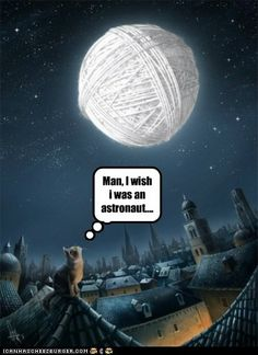 The moon is a ball of yarn!