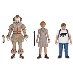 Funko Action Figures: IT includes Pennywise, Ben & Beverly action figures, ranging in size from 2 inches to 4 inches. Bring the horror home with these fully articulated action figures from Funko! It 2017 Pennywise, Pennywise The Clown, Vinyl Figures, Action Figures, Pop Figures, Its 2017, Star Wars Shop, Alien Vs Predator, Marvel Dc Comics