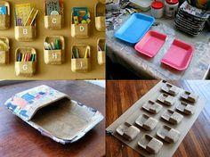 DIY recicla bandejas de porexpan