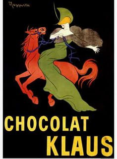 French chocolate poster for Klaus