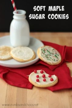 Soft Maple Sugar Cookies | Crumbs and Chaos