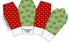 Fundo Natal Verde e Vermelho - Kit Completo com molduras para convites, rótulos para guloseimas, lembrancinhas e imagens!