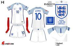 England home kit for Euro 2016.