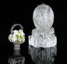 "Faberge Egg 1913 - ""Winter Egg"" Given to Maria from her son. Currently owned by a private collector in Qatar."
