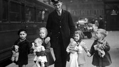 Train Porter and evacuees