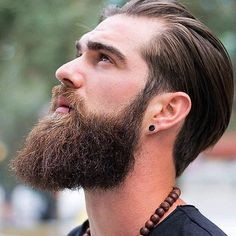 Alpha Vikings : Beard Life is The BETTER Life ! beard bearded viking hair grooming kit man face growing brush comb dude g… - New Site Moustache, Beard No Mustache, Beard Styles For Men, Hair And Beard Styles, Hair Styles, Hipster Noir, Viking Beard, Hipster Beard, Beard Tattoo