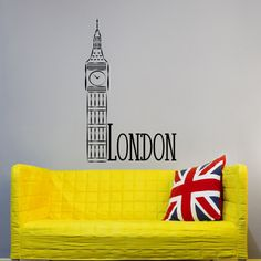 London City Skyline Removable Vinyl Wall Decals Big Ben Clock Vinyl Stickers British Gifts Office Window Bedroom Dorm Home Decor  Approximate Item Sizes:  22 Tall x 14 Wide 28 Tall x 18 Wide 35 Tall x 22 Wide 45 Tall x 28 Wide 56 Tall x 35 Wide  Dont see the size you need? Send us a message for your custom needs and we will create a listing just for you. Picture may not reflect true size.  Choosing from the color chart above, please leave your choice of color in the message box when…