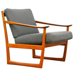 Easy Chair by P. Hvidt, FD 130, France & Son Teak Mid Century Danish Modern 60s | From a unique collection of antique and modern armchairs at http://www.1stdibs.com/furniture/seating/armchairs/