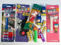 PEZ CANDY DISPENSERS CHICAGO CUBS SNOOPY SANTA BATMAN VINTAGE PUMPKIN HEAD LOT