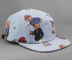 Ralph Lauren Polo Bear Custom 5 panel camp cap hat snapback NEW #Bucket