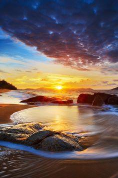 Beach sunset - Singkawang, Island of Borneo, Indonesia  (by Bobby Bong on 500px)