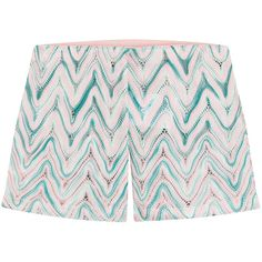 Missoni Mare Zigzag Print Shorts (€160) ❤ liked on Polyvore featuring shorts, missoni, multicolor, print shorts, slim shorts, multi colored shorts, slim fit shorts and elastic waistband shorts