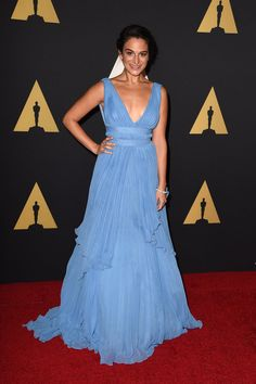 Celebrities Get a Head Start on Award Season at the Governors Awards: The stars were on hand on Saturday night for the 2014 Governors Awards to watch three Academy Honorary Awards get handed out in LA. Pretty Dresses, Blue Dresses, Formal Dresses, Jenny Slate, Red Carpet Ready, Cool Girl, Celebrity Style, Head Start, Awards