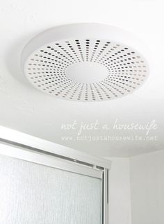 bluetooth bathroom fan--it's a speaker for your music!