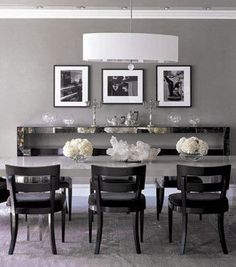 Extraordinary Grey Dining Rooms Pictures - Best inspiration home ...