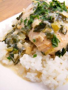 Pollo al Verdeo (Chicken in a Scallion Cream Sauce)