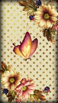Sunflower Wallpaper, Flower Background Wallpaper, Flower Phone Wallpaper, Butterfly Wallpaper, Butterfly Art, Love Wallpaper, Cellphone Wallpaper, Flower Backgrounds, Colorful Wallpaper