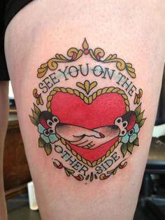 Lovely Claddagh Tattoo On Thigh