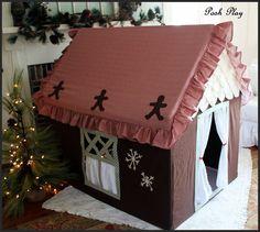 Custom medium Gingerbread Playhouse  similiar to by careytrudeau, $299.00--not avail.-- inspiration