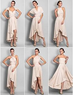 I want this in light purple Hi Lo Convertible Dress Asymmetrical Jersey Bridesmaid Dress Junior Maid Of Hornor Formal Dress Christmas Dress Cheap Multi-Wearing Way, $76.6 | DHgate.com