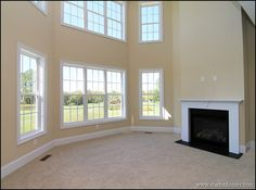 Great room with window walls!