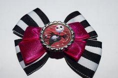 18 Inch Doll Halloween Jack Skellington Hair Bow Nightmare Before Christmas Doll Hair Bow Handmade Hair Bow by RachelsHairBowtique on Etsy