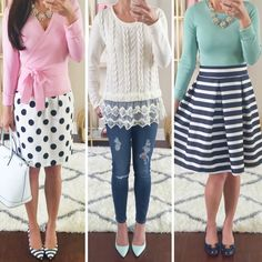 Dressy and Casual Outfit Ideas here: http://www.stylishpetite.com/2015/03/instagram-lately.html