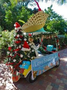 christmas parade seashell golf cart christmas parade floats nautical christmas tropical christmas custom