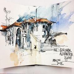 1,164 отметок «Нравится», 7 комментариев — Sketching -watercolor (@reham_m_a) в Instagram: «#watercolor#urbansketches#urbansketching#sketch#ink#drawing#architecture#art#sketchbook#Alexandria#Egypt#travel#follower#follow#perspective#رسم#الاسكندريه…»
