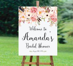 Bridal Shower Welcome Sign, Bridal Shower sign, Bridal Shower decoration, PRINTABLE Welcome sign, Bridal shower welcome sign