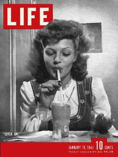 Life Magazine Copyright 1943 Rita Hayworth Cover Girl