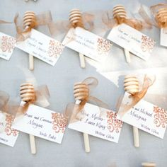 Playful honeycomb stick escort card display, photo: Jesse Leake / Event Design: MAP Events