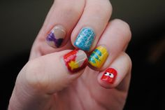the Little Mermaid nail art by TartanHearts, via Flickr - Disney nails