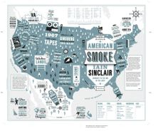 American Smoke by Iain Sinclair - ThingLink #bookcover #design #map