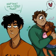 Anonymous: I love the foster sibling au! I was wondering if it was still when Percy/Piper was a demigod or not because maybe then Tyson could get to meet Piper? He'd be such a good big brother to her perhaps! Anyway have a good day :) cindersart: still not sure about the au, but this idea was just too cute to pass up. tyson and percy would be the BEST big brothers.