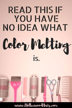 Have you ever heard of color melting? You should hear about this new hair color trend that everyone is talking about in the salon! Keywords: color melting, hair color, hair dye, haircolor, highlights, hair, hairstylist, hairstyles, hair trends hashtags: #haircolor #hair #hairstylist #beautyblog #colormelting