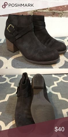 "Crown Vintage Dark Brown Booties Dark Brown booties with buckle detail from Crown Vintage. Size 8m, 2.5"" heel, only worn once. Hope they find a good home! Crown Vintage Shoes Ankle Boots & Booties"