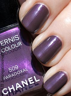 Chanel Paradoxal nail color is awesome.  I am not sure that it's still around. I bought two bottles last year - just in case.