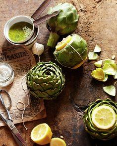 Artichokes and Lemon Vinaigrette