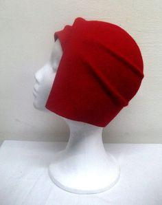 Sombrero rfojo en fieltro de lana