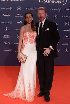 Boris Becker la premiile Laureus Usain Bolt, Nadia Comaneci, Bjorn Borg, Strapless Dress Formal, Formal Dresses, People, Tennis, Fashion, Rio De Janeiro