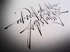 calligraphic works by Gabriel Martínez Meave
