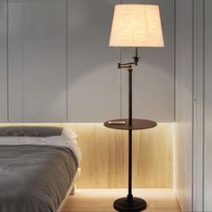 New Black Wrought iron rocker floor lamp LED energy saving lamp living room bedroom bedside floor lamp American floor lamps #Affiliate