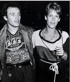 adam ant and jamie lee via Kate Coughlin Adam Ant, Jamie Lee Curtis, Ant Music, Brooke Adams, American Bandstand, The Blitz, New Romantics, Old Love, Rare Pictures