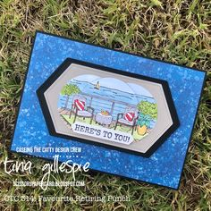 Scissors Paper Card: CTC 314: Favourite Retiring Punch Heres To You, Scissors, Seaside, Punch, Stampin Up, Catalog, Paper Crafts, Frame, Cards